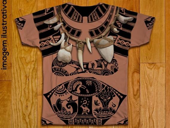 Camiseta Fantasia Adulta Mauí Colar