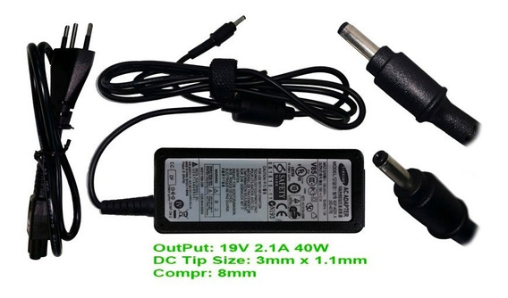 Carregador / Fonte Ad-4019a Notebook Ativbook Samsung Usa
