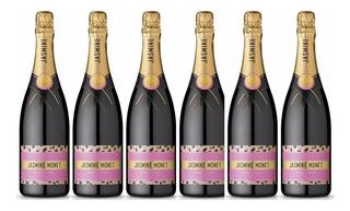 Champagne Jasmine Monet Rosado X750cc Caja X6