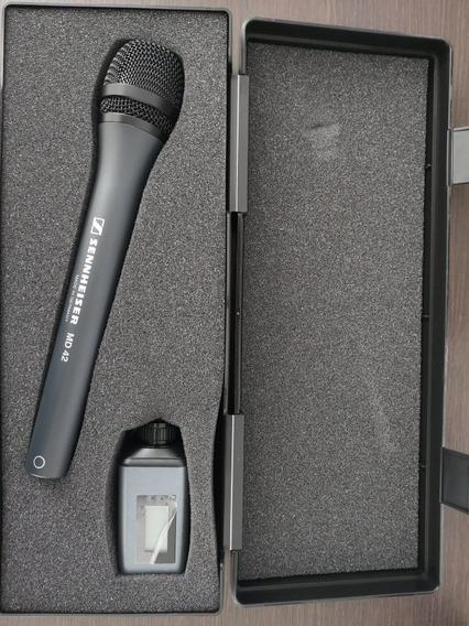 Microfone Profissional Sennheiser Md42 + Transmissor Sem Fio