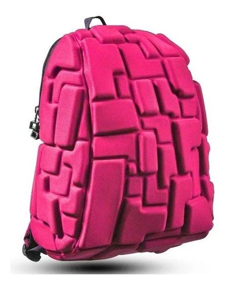 Mochila Para Niña Crazy Pax Tetris 3d Rosa