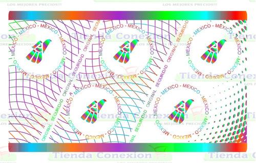 Imagen 1 de 2 de Hologramas Completo Seguridad Credenciales Pvc Aguila México