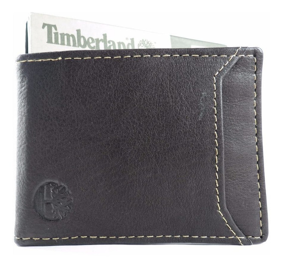 Porta Cartões Timberland Pc Flip Clip Marrom Original