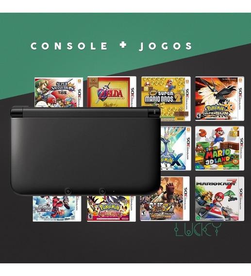 Nintendo 3ds Xl + Jogos Instalados!