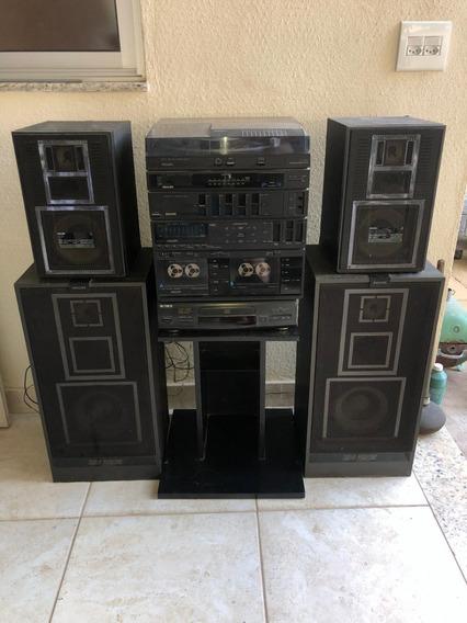 Conjunto De Som Philips F1651 + Módulo Sony + Caixas