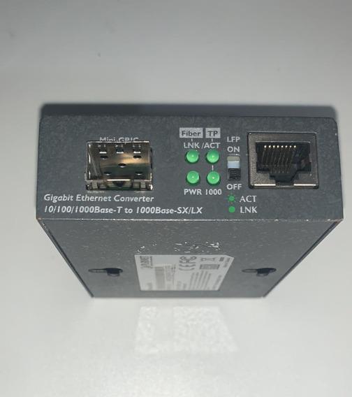 Conversor De Mídia 10/100/1000base-t P/ 1000fx (sfp) Gt-805a