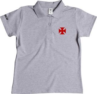 Camiseta Camisa Polo Feminina Do Vasco, Blusa Torcedor