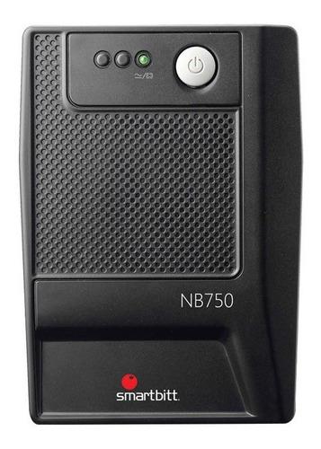 Imagen 1 de 3 de UPS regulador de voltaje Smartbitt Smart Interactive SBNB750 750VA entrada y salida de 120V CA negro