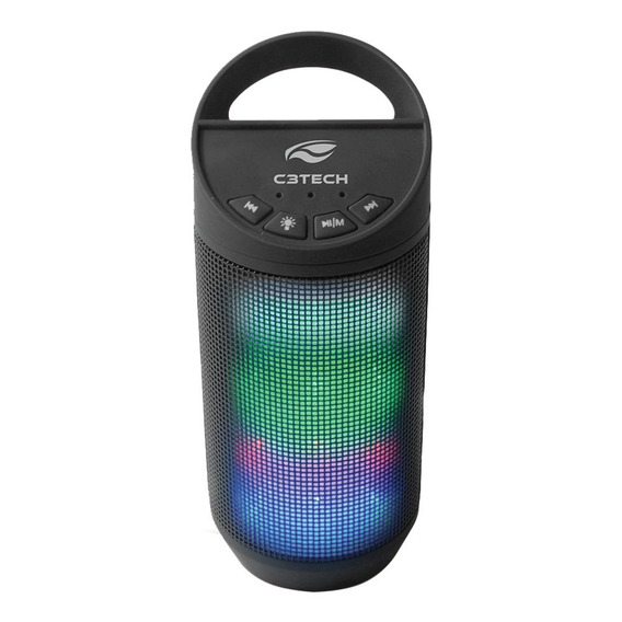 Caixa De Som C3 Tech Beat Portatil Bluetooth - Preta