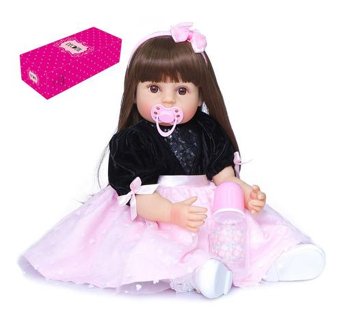 Imagen 1 de 7 de Decdeal - Muñeca De Silicona Para Bebé (55,8 Cm)