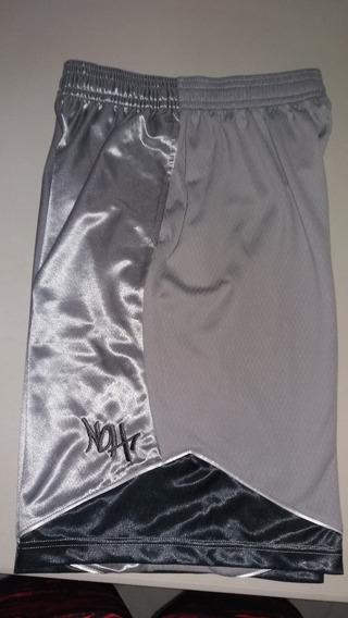Pantaloneta Basketball Nacional Of Hoop-noh Color Gris-negro