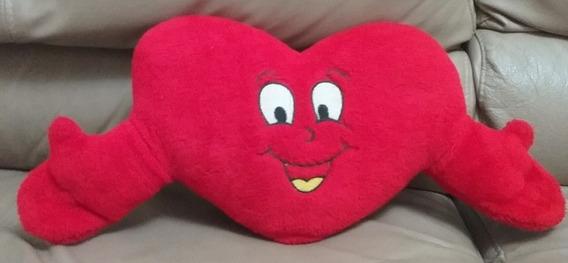 Coração De Pelúcia Abraço Sorrindo !