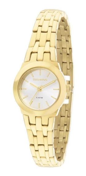 Relógio Technos Feminino Ref: 2035lxl/4k Dourado Mini