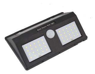 5 Lampada Solar 40 Led Sensor Presença Movimento Parede Muro