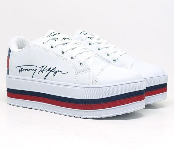 Tênis Feminino Plataforma Tommy Hilfiger Branco Frete Grátis