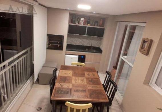 ** Edifício Bellato - Lindo Apartamento C/ Maravilhosa Varanda Gourmet C/ Churrasqueira ** - Ap0016
