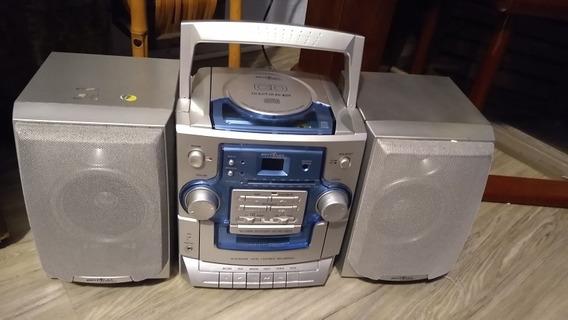 Micro System Bs 335 Rádio Gravador Estério, Com Cd, Britania