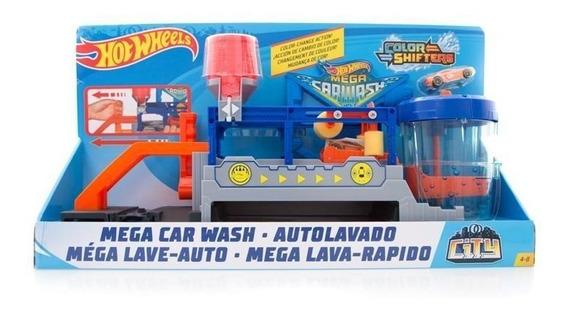 Hot Wheels City Mega Car Wash Autolavado Color Shifters Matt