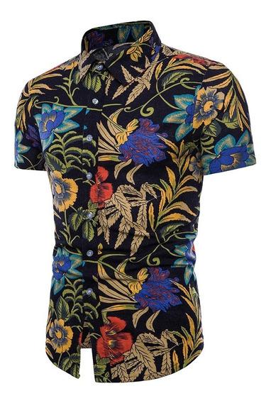 Camisa Cloudstyle Estampada De Verano Manga Corta P/hombre