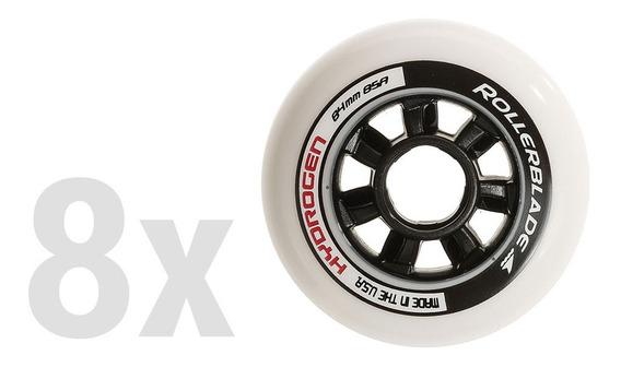 Pack De 8 Ruedas Rollerblade 84mm/85a Hydrogen Patín Roller
