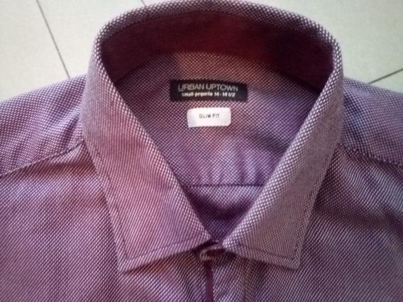 Camisa Urban Uptown Talla S Slim Fit Cuello 14-14 1/2