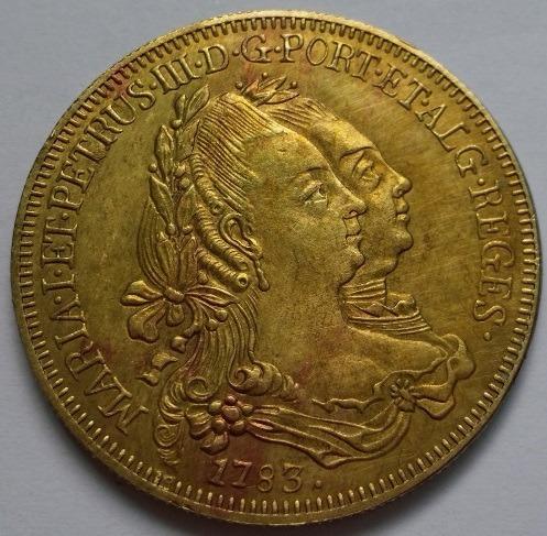 1783 Brasil 6400 Reis Réplica De Moeda De Ouro