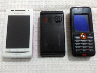 Lote 3 Celular Sony Ericson Xperia E15a W200a W380i Leia Tud