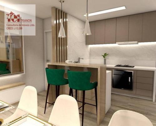 Cobertura Com 3 Dormitórios À Venda, 135 M² Por R$ 870.000,00 - Jardim - Santo André/sp - Co0848