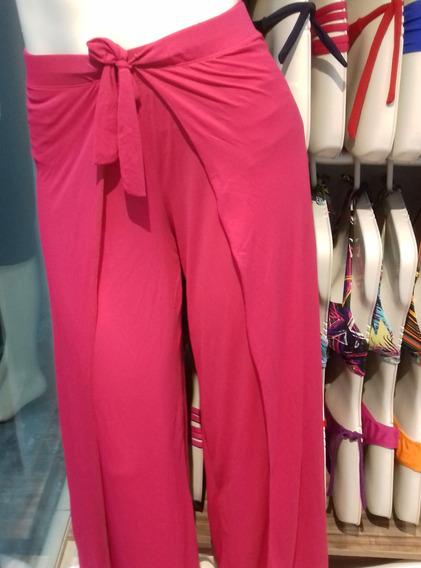Calça Saída De Praia Transpassada Pantalona Promoção