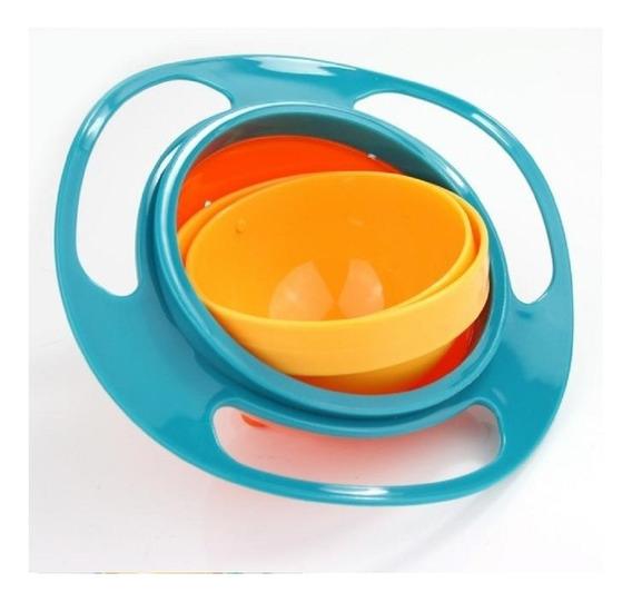 Prato Giratório Pote 360° Não Derrama Infantil Bebê Pratinho