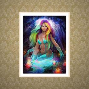 Colorido Sensual Meninas Padrão 5d Diy Pintura Diamante Bord