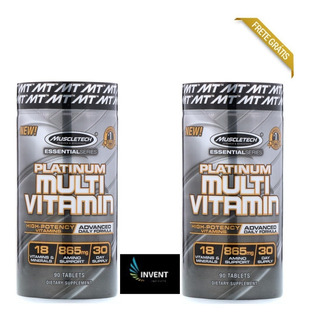 Multivitaminico Platinum Muscletech 865mg 180 Tabs - 2 Potes
