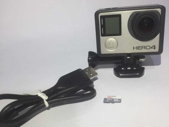 Gopro Hero 4 Black 4k Com Cartão De Brinde Bem Conservada