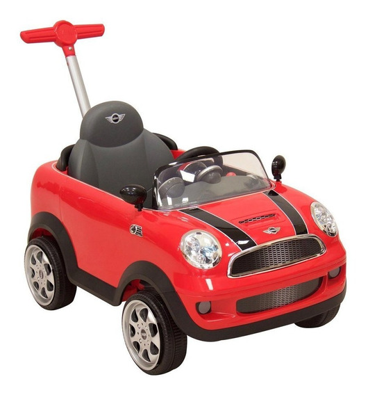 Montable Push Car Mini Cooper Rojo