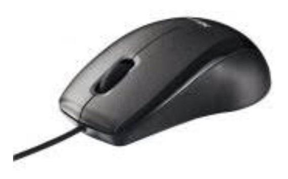 Mouse Com Entrada Usb Preto Com Fio Envio Em 24 Horas