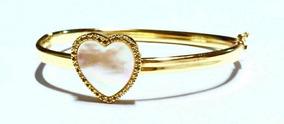 Bracelete Madre Perola Banhado Ouro 18k