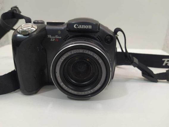 Camera Canon S3is Com Defeito Ler Descrição