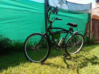 Bicicleta Playera Rodado 26 + Inflador + Cadena + Botella