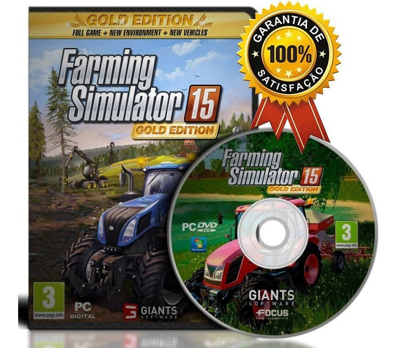 Farming Simulator 15 Pc C/ Expansão Gold Edtion Original