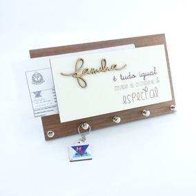Porta Chaves E Cartas Família Especial