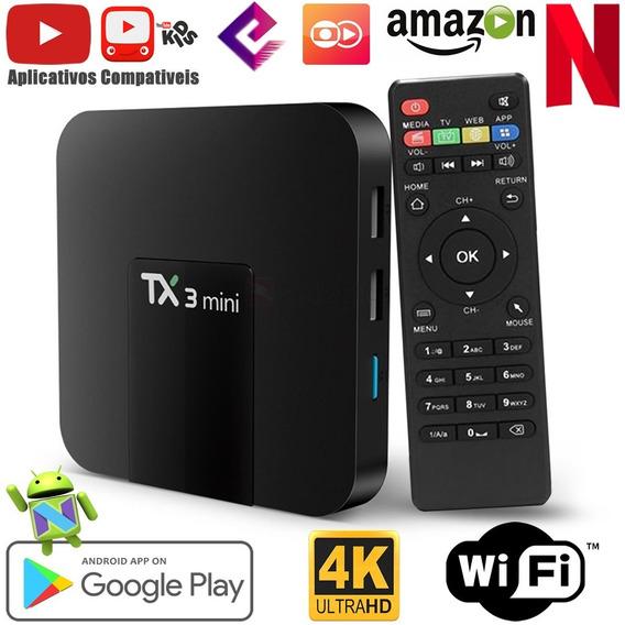 Tv Box 4k - Tanix Tx3 Mini Entretenimento Total 365 Dias Ano