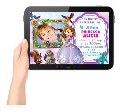 Tarjetas De Invitacion Princesa Sofia Espejo Souvenirs