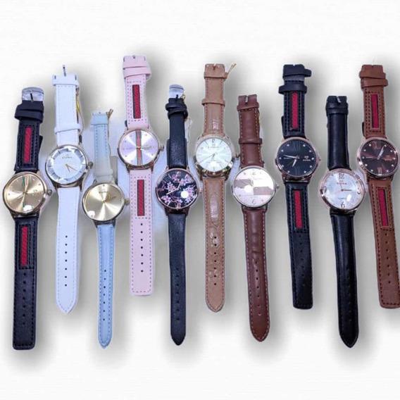 10 Relógios Diversos + Caixinha Simples + Atacado + Revenda