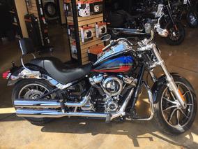 Harley-davidson Low Rider 107 2018 Negro Con Azul Y Rojo