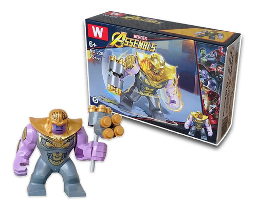 2x Juguete Lego Super Heroes-avenger Spiderman Hulk Thanos