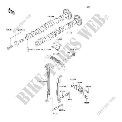 13107-0157 Eixo De Comando Jet Ski Kawasakishaft,chain Guide