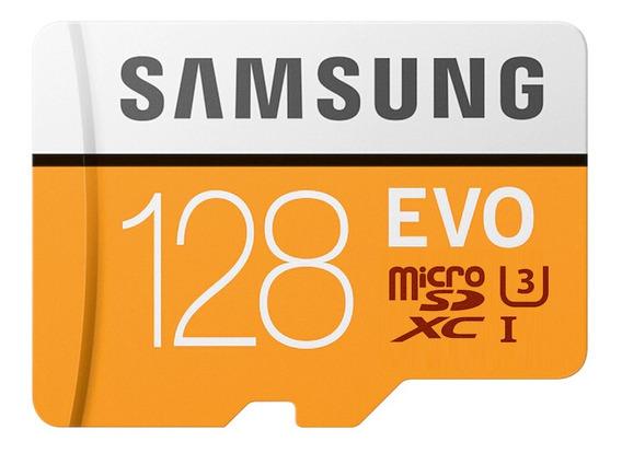 Samsung Evo Microsd Card 128 Gb 100 Mb / S Classe10 U3 U1