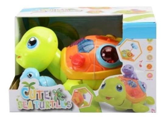 Muñeco Tortuga Juguete De Estimulación Temprana Bebe Con Música Y Luz