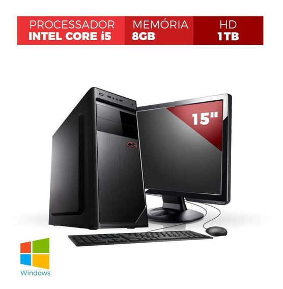 Pc Core I5 8gb 2tb Monitor 15