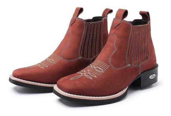 Botina Unissex Coutry Bico Quadrado Pessoni Boots & Shoes